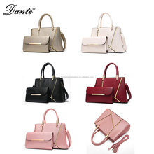Dante Wholesale Woman Elegant PU Leather Handbag Together with Clutch Bag