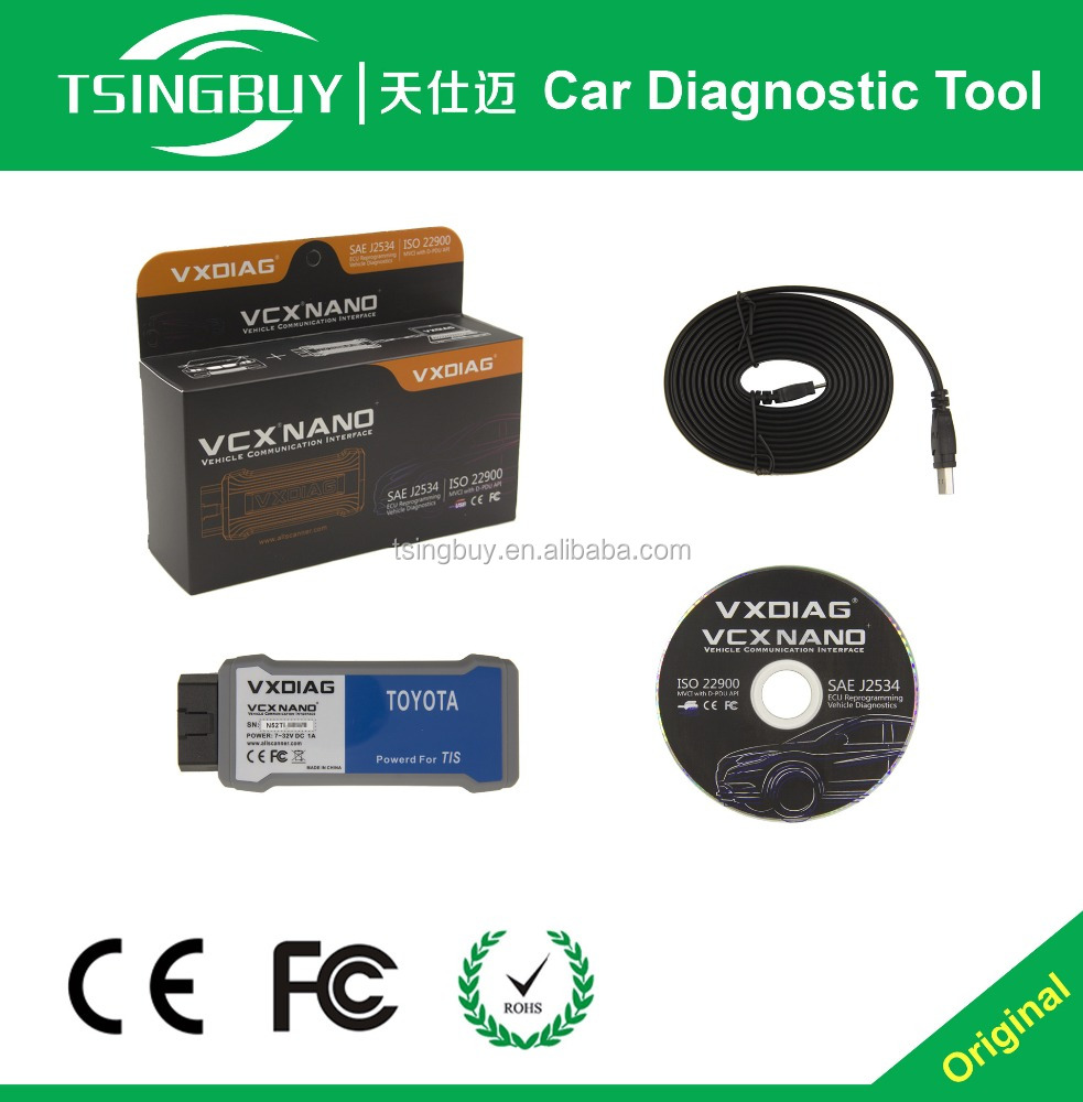 for Toyota TIS Techstream software VXDIAG VCX NANO compatible with SAE J2534 V10.30.029 support 2015 new cars