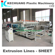 PE/PP/PC Plastic Hollow Gird sheets/plates extrusion production line