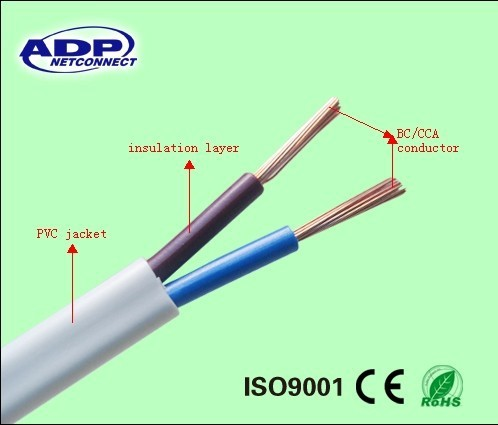 Competitive price low voltage high quality colored PVC jacket electric wire cable