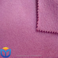 polyester polar fleece two side brushed no antipilling for garments and home textile fabric