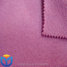 polyester polar fleece two side brushed no antipilling for garments fabric