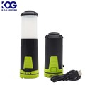 New Stretched household articles 5W XPG usb charged rechargeable led camping lantern with battery indicator&powerbank