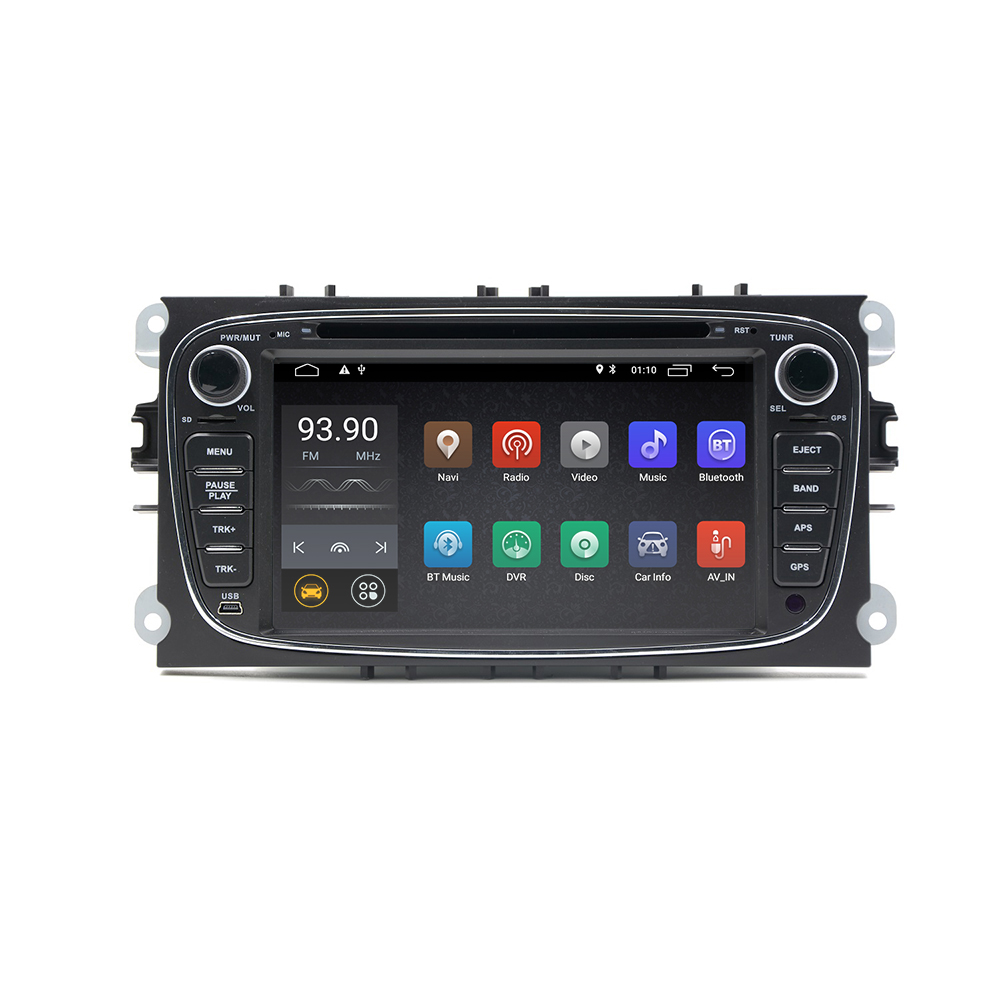 "YHT Android 8.1 Quad core 2 Din 7"" Car DVD Player For FORD with Car GPS Navigation FM/AM Radio"