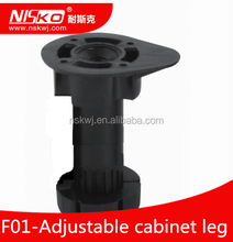 Furniture kitchen cabinets adjustable plastic leg with clip