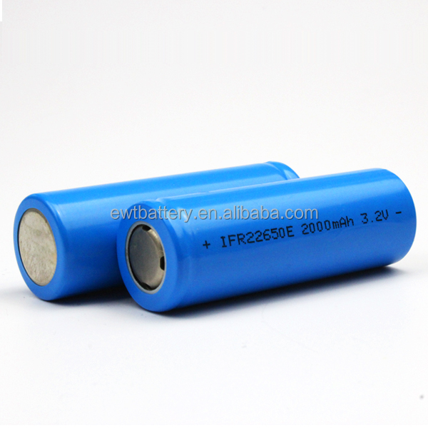 IFR 18650 2500mAh Lifepo4 battery cell LFP 18650 2500mAh battery EWT supplys Lifepo4 battery with high capacity