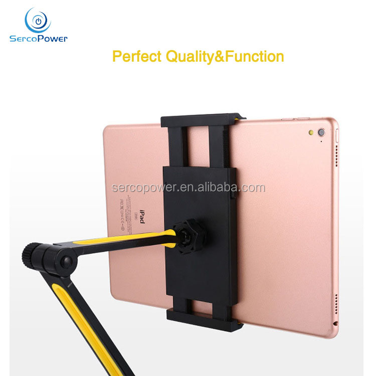 Hot Sale Folding Portable Tablet Computer/Cell Phone Universal Mount Stand with Suction Cup Base - up to 11''