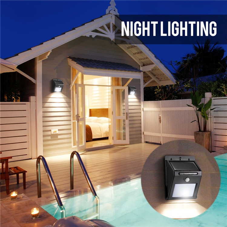 Wholesale Solar Powered Motion Sensor LED outdoor Wall Mounted light