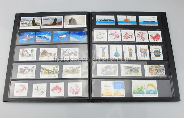 PVC Type and Coin Collection,collect coins/medals/stamps Use Stamp albums illustrated by country