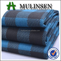 Shaoxing Mulinsen textile 21s brushed heavy cotton twill fabric