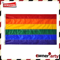 Hot Sell OEM Service Cheap 3x5 Gay Pride Rainbow Flag