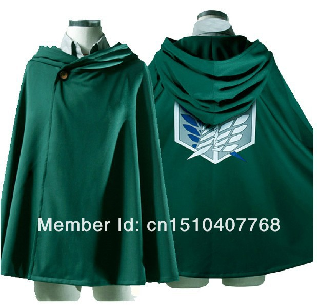 MOON BUNNY Attack on Titan Shingeki no Kyojin clothes wing of freedoom Eren Levi Scouting Legion Top Cosplay Cloak Cape Coat Who