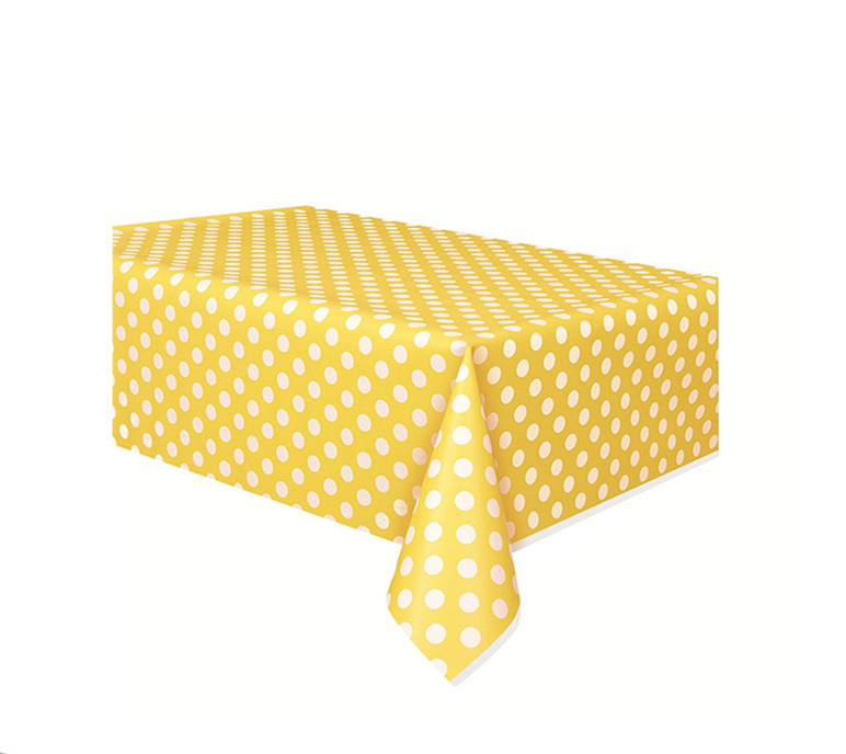 Printed Polka Dot Plastic Tablecloth