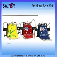 national flag soda drinking hat