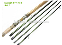 High quality with good fast action double hand nano fly rod