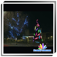 Custom new style outdoor holiday time decoration led christmas tree motif light