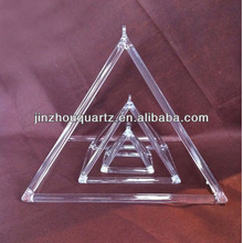 customized clear quartz crystal pyramid for Sound therapy and healing