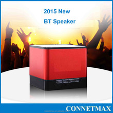 2015 new hot Aluminium mini wireless bluetooth speaker, magic music cube with FM radio, Model No: Q1