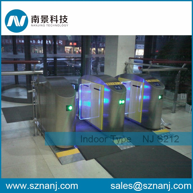 stainless steel surface Slingding Gate Turnstile Half Height Sliding Turnstile