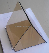 FACOTRY direct sale 5mm--12mm 15mm brown color tinted tempered glass