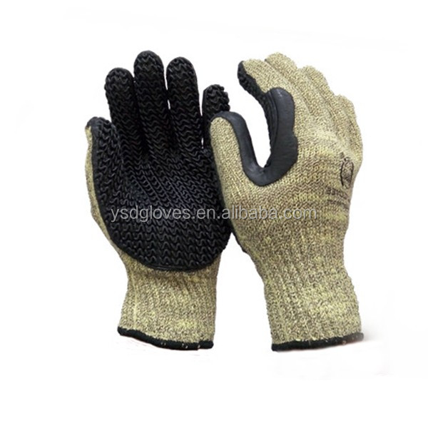 Rubber Coated Cut Resistant Safety Working Gloves for Construction