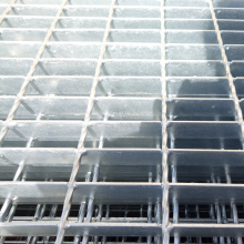 High quality galvanized serrated catwalk steel grating