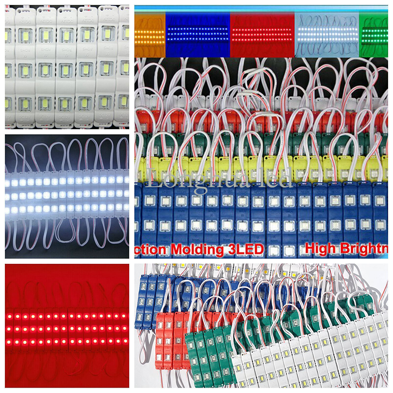 5050 5630 5730 Colorful Base 3 Chips Injection LED Module