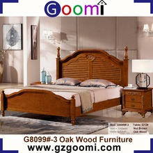 Factory Supply Goomi Bedroom Furniture Wooden Double Cot G8099# New Model Bedroom Furniture