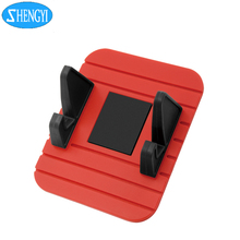 Muti function desktop mobile tablet pc stand mini smart car phone holder silicone