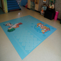customized colorful kindergarten PVC flooring