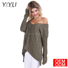 Musim gugur Criss cross Backless top rajutan sweater wanita 2017 musim semi Oversized knitwear Longgar jumper pullover putih