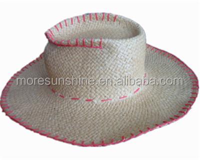 2016 spring fashion men's handmade hat cowboy hat straw hat