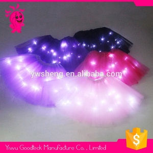 2019 Wholesale solid color baby girls LED professional ballet tutu skirt
