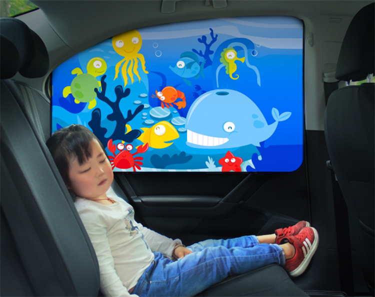 Sunscreen heat insulation magnetic car sunshade