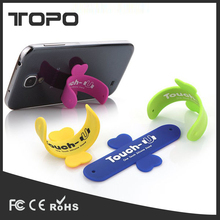 Hot sale custom logo printed design funny Touch U Silicone Slap Stand phone Holder Support for iphone for Android