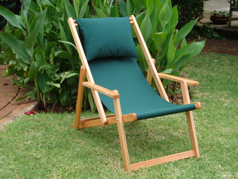 Wooden Saligna Beach chairs
