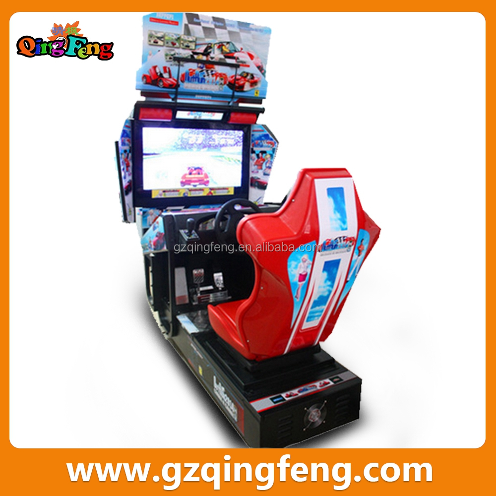 55 inch LCD arcade racing car game machine for sale car driving  racing simulator driving