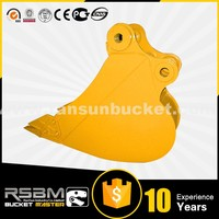 Popular selling HARDOX-500 Material RSBM standard excavator bucket sizes