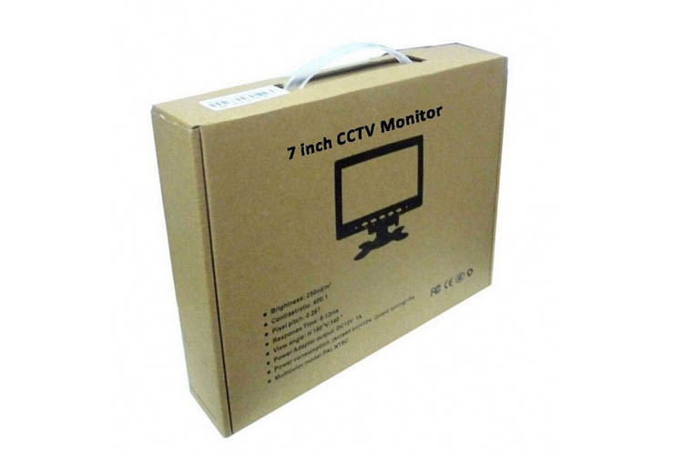 Wide screen 7 Inch TFT LCD Car Headrest Monitor 16:9 AHD Car tv Monitor with reverse camera