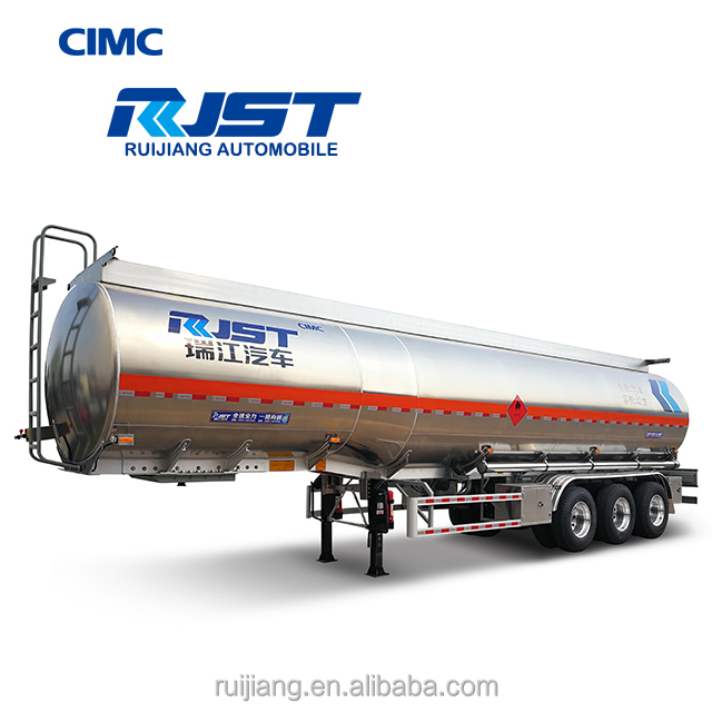CIMC 45 m3 three axle fuel tank semi trailer/aluminum alloy tanker/liquid tanker semi trailer