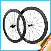 2015 YISHUNBIKE SLR 55mm Clincher 26mm Wide U Shape Blade Sapim Spoke Road Bike Carbon Wheel 700C