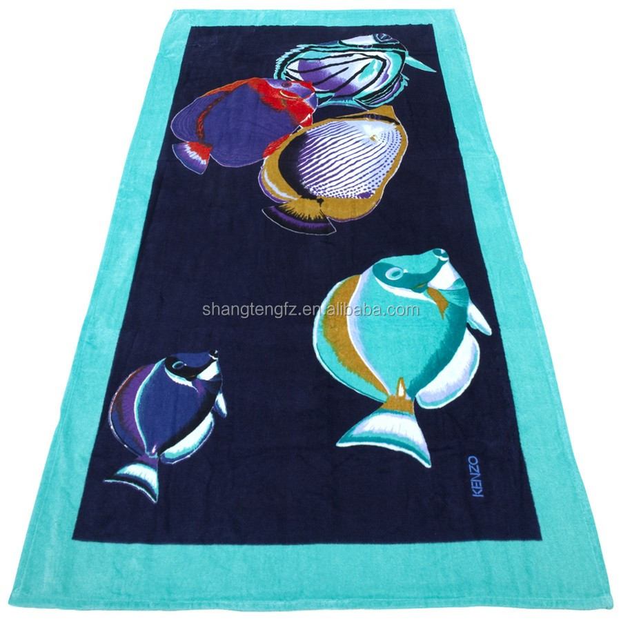best sell 100 cotton turkish printed beach towel with best price