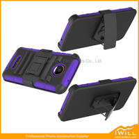 NEW Heavy Duty Belt Clip Double Layer Hybrid Kickstand Cell Phone Case For Moto Z Play Case