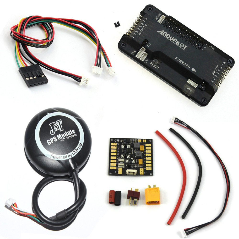 APM 2.8 Flight Controller with 6M GPS Connect Cable Power Distribution Board 5.3V BEC for FPV DIY RC Drone Aircraft F14586-D1