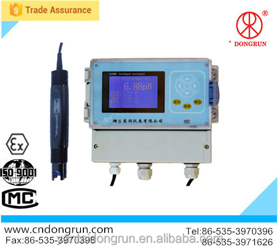 swimming pool and water works ph and chlorine tester with 4~20mA output