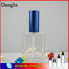 Hot sale 15ml 30ml 50ml 100ml square rectangular perfume glass bottles