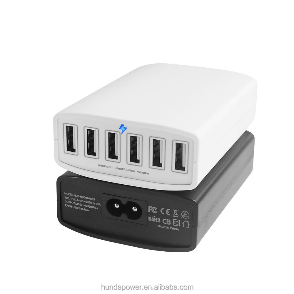 5v 6 port 60w usb portable charger multi port usb charger for ipad buy portable usb charger. Black Bedroom Furniture Sets. Home Design Ideas