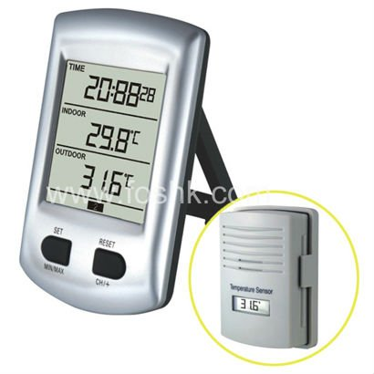 Room Thermometer With Big Font Reading LCD Display