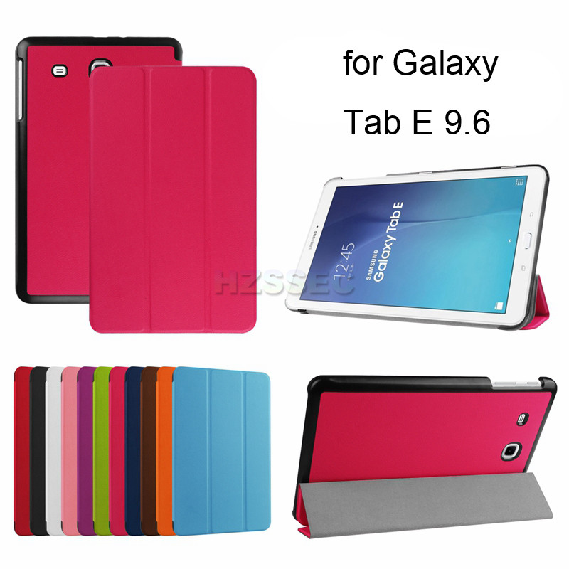 China tablet accessories 9.6 inch stand flip leather cover case for Samsung Tab E T560