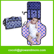 polyester customized baby contoured changing pad